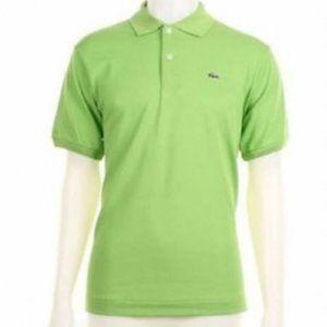 Lacoste Lime Green Pique Polo Shirt Top 2 S